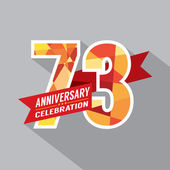 73rd Years Anniversary Celebration Design — Vetorial Stock