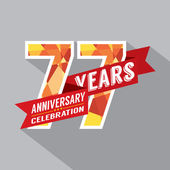 77th Years Anniversary Celebration Design — Vector de stock