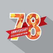 78th Years Anniversary Celebration Design — Vetorial Stock