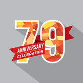 79th Years Anniversary Celebration Design — Vettoriale Stock