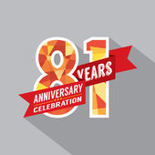 81st Years Anniversary Celebration Design — Wektor stockowy