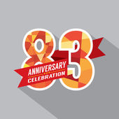 83rd Years Anniversary Celebration Design — Vettoriale Stock