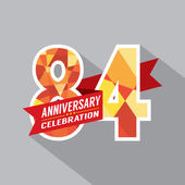 84th Years Anniversary Celebration Design — Vector de stock