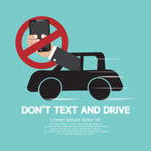 Don't Text And Drive Vector Illustration — Stock Vector