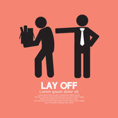 Lay Off Graphic Vector Illustration — Stock Vector