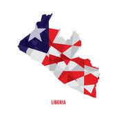 Map of Liberia Vector Illustration — Stock Vector