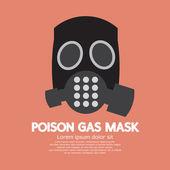 Flat Design Poison Gas Mask Vector Illustration — Stok Vektör