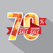 Discount 70 Percent Off Vector Illustration — Stock Vector