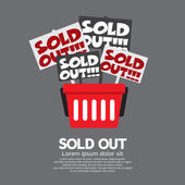 Sold Out Shopping Concept Vector Illustration — Stock Vector