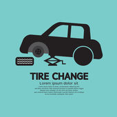 Tire Changing Graphic Vector Illustration — Stock Vector