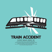 Train Accident Graphic Vector Illustration — Stock Vector