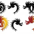 Dragon heads — Stock Vector #44175575