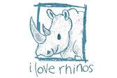 Nosorožci — Stock vektor