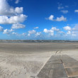 North Sea beach panorama — Foto Stock
