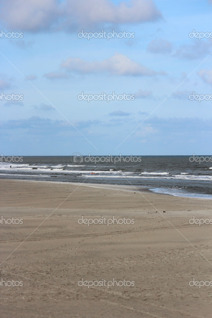 North Sea beach  Stock fotografie #13360504