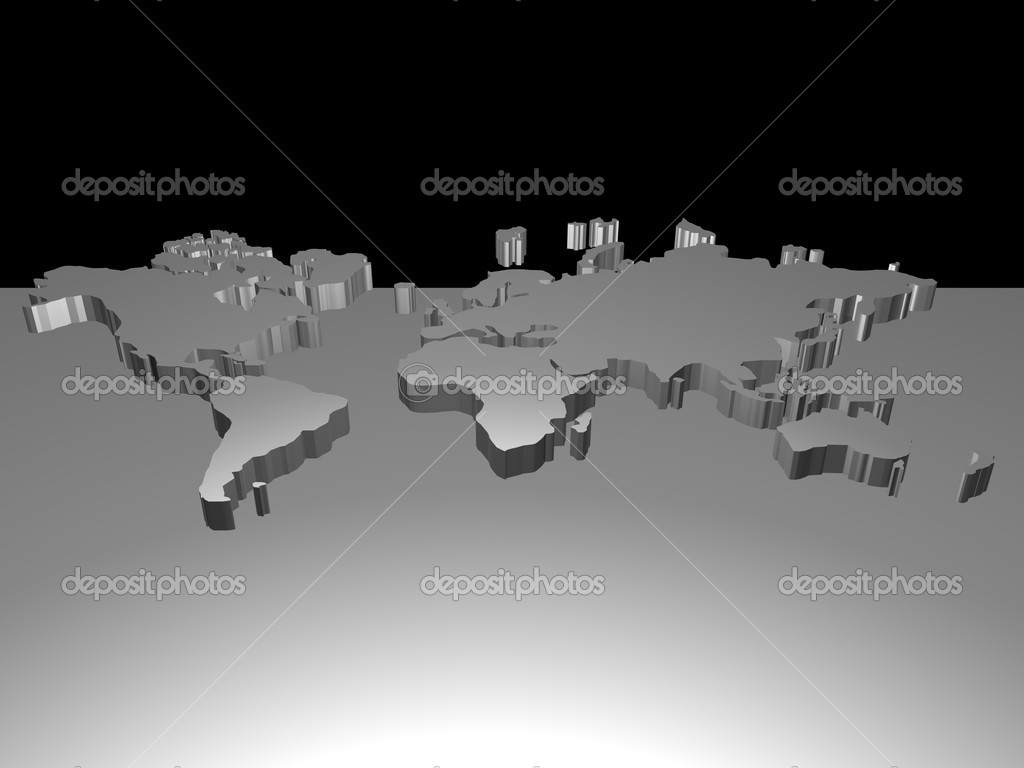 Map of the world — Stock Photo #14251129