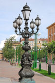 Lantern in a historical part of St.Petersburg — Stock Photo