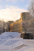 Gatchina Palace in winter near St. Petersburg, Russia — Stock Photo