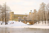 The Great Gatchina Palace in Gatchina, near Petersburg, Russia. — Stock Photo