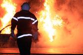 Fire fighting — Stock Photo