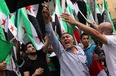 Free Syria, Syrian flags — Stock Photo