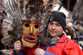 Man in traditional masquerade costume — Stock Photo