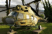 Vintage Military helicopter — Stock Photo