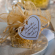 Wedding Thank You Note on Guest Table — Stock fotografie