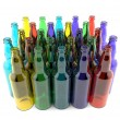 Stock Photo: Bottles of colored glass empty grouped