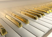Gold Piano — Stock Photo