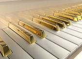 黄金钢琴 — 图库照片