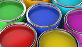 Paint cans open — Stock Photo