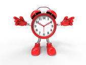 Character alarm clock — Stock Photo