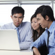 Stock Photo: Business colleague working together