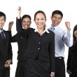 Stock Photo: Happy AsiBusiness Team