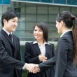 Stock Photo: Business shaking hands.