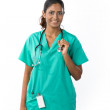 Portrait of a happy Female Indian Doctor — Stock Photo