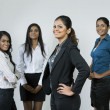 Indian Business woman and her team — Foto de Stock