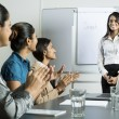 Indian business woman doing a presentation. — Stock Photo #16896629