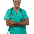 Portrait of a male Indian doctor — Stock Photo