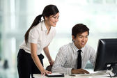 Business colleague working together — Stock Photo