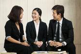 Business-colleges haben ein treffen — Stockfoto