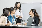 Mujeres de negocios indio en una reunión — Foto de Stock