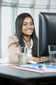 Indian business woman at work — Stock Photo
