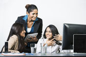 Happy Indian business team — Stock Photo