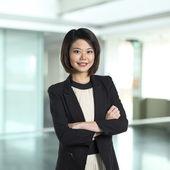 Beautiful Chinese business woman. — Stock Photo