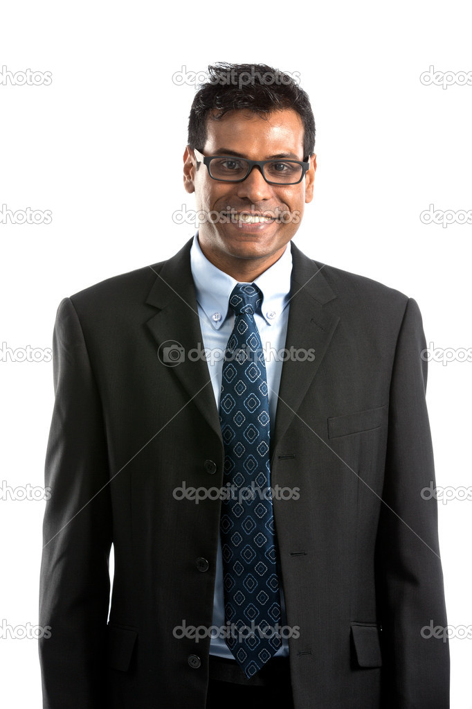 Portrait of a handsome Indian Businesman. Isolated on a white background. — Stock Photo #16896797