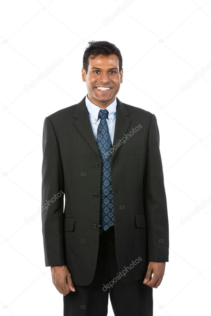 Portrait of a handsome Indian Business man. Isolated on a white background. — Stock Photo #16896799