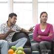 Angry Indian couple having an argument — Stock Photo