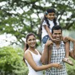 Stock Photo: Happy Indian family at the park.
